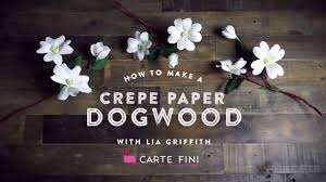 Paper Flower Branches How To Make Paper Dogwood Branches Youtube