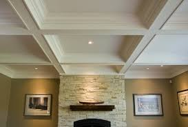 coffered ceiling lighting and white coffered ceiling paint ideas