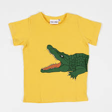 S S Tee S J Crocodile Yellow Green Short Sleeve T Shirt With
