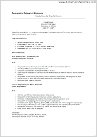 Computer Science Cv Sample Pdf Resume Template Of Letsdeliver Co