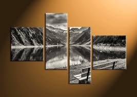 home decor 4 piece wall art forest group canvas black and white large on 4 piece wall artwork with 4 piece mountain black and white wall decor
