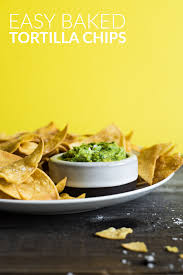 easy healthy baked tortilla chips made with 4 ings only gluten free