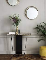 red edition ellipse wall mirror gold