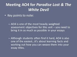 meeting ao for paradise lost the white devil key points to note  1 meeting ao4 for paradise lost