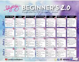 New Beginners Calendar 2 0 Blogilates