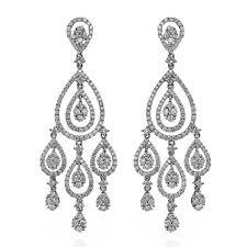 king jewelers diamond teardrop white gold chandelier earrings c0237275