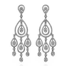 king jewelers diamond teardrop white gold chandelier earrings c0237275