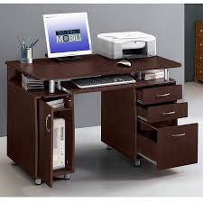 Office study desk Wide Corner Ktaxon Brown Computer Pc Desk Home Office Study Writing Table Drawers Bookcase Ecommercewebco Ktaxon Brown Computer Pc Desk Home Office Study Writing Table
