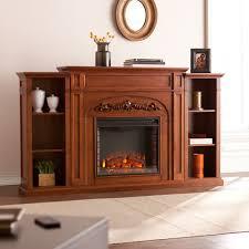 chantilly bookcase electric fireplace autumn oak