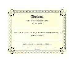 Fake Diploma Template Free Free Printable High School Diploma Templates Blank