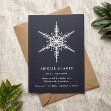 Winter Wedding Save The Date Winter Wedding Save The Date Card By Pear Paper Co
