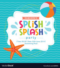 pool splash vector. Birthday Card Invitation Summer Fun Splash Pattern Vector Image Pool