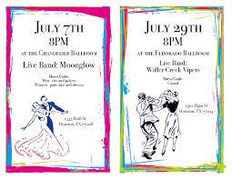 july 29 friday at 8 p m at the eldorado ballroom 2310 elgin s t houston tx 77004 live band waller creek vipers dress code casual