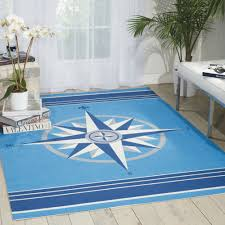blue nautical outdoor rugs