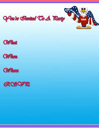 4th of july letterhead free 4th of july party invitations free 4th of july
