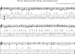 gethsemane sheet music mandolin tab and sheet music for song wreck between new hope and