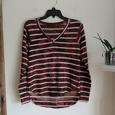 Nally And Millie Size Chart Nally Millie Nwt Striped Floral Sweater S Nwt
