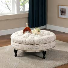 Decorating An Ottoman With Tray Coffee Table Coffee Tables Oversized Round Ottoman Tray Wrap 24