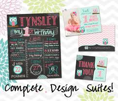 first birthday posters