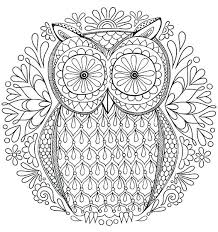 Cool Animal Coloring Pages Free Owl Coloring Page By Hard Cute
