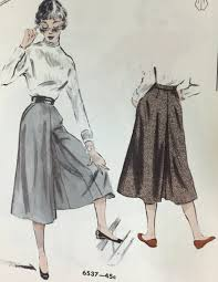 Culottes Pattern Custom The Inescapable Unavoidable CulottePast And Present Patterns