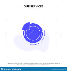 Our Services Graph Circle Pie Chart Solid Glyph Icon Web