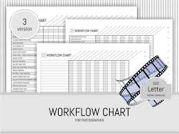 Photographer Workflow Chart Printable Planner Page Photography Business Planner Session Schedule Digital File Letter Size Instant Download
