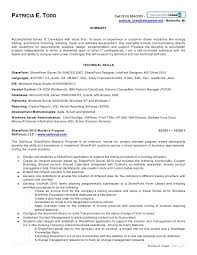 Patricia Todd SharePoint Resume