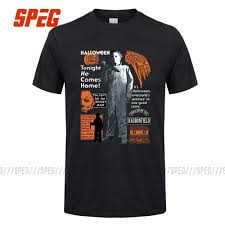 Scary T Shirts Designs T Shirts Michael Myers Halloween Mask And Drips T Shirt Scary Movie Horror Male Cotton Short Sleeve Clothes New Cool Tees Design