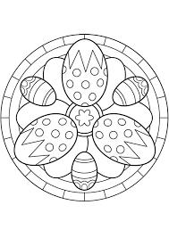 Kleurplaat Mandala Kleurplaten 5258 Paaseieren Easter