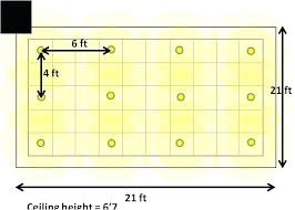 recessed lighting simple guide layout ceiling light spacing pot
