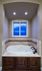 master bathroom jetted tub travertine