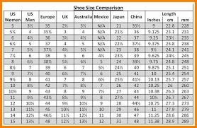 Shoe Size Comparison Chart Shoe Size Comparison Chart