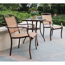 dune outdoor furniture. Delighful Furniture 3Piece Outdoor Bistro Set Sand Dune Sling Patio Chairs Steel Frames Tan  Seats 2 In Furniture