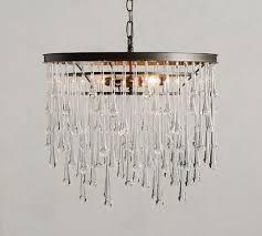 allan crystal round chandelier
