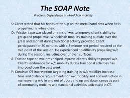 Ot Soap Note Example Ot 425 Intro To Clinical Documentation In Occupational Therapy