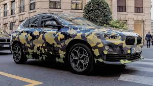 Coupe Series bmw x2 2016 : 2018 BMW X2 parades new camouflage on the streets of Milan