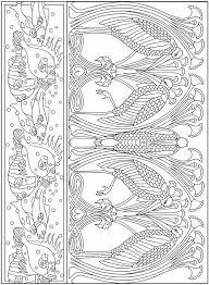 Art Nouveau Animals 5 Kleurplaten Coloring Pages Coloring