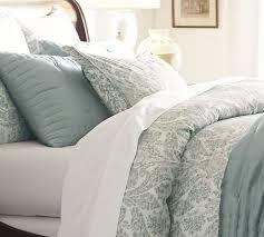 samantha damask cotton duvet cover full queen blue pottery barn