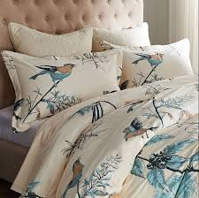 american country bird print duvet cover set designers beige fl bedding sets