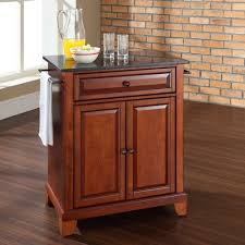 Crosley Kitchen Cart With Granite Top Crosley Furniture Newport Natural Wood Top Portable Kitchen Island