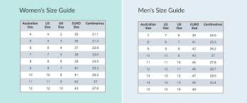 vionic size chart natural fit footwear easy online shoe size guide