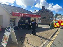 car crashes into ivybridge takeaway