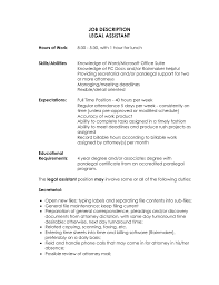 Legal Secretary Resume Examples Assistant Cover Letter Samples