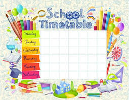 Timetable Chart Ideas Timetable Stock Photos And Images 123rf