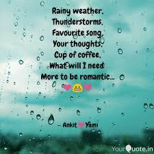 Rainy Weather Thundersto Quotes Writings By Ankit Saha