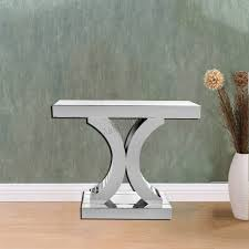 mirror hall table. Sentinel FoxHunter Mirrored Furniture Glass Table Console Desk Bedroom Home Hall Silver Mirror O