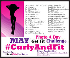 May Photo A Day Curlyandfit Weight Loss Challenge Prizes