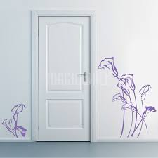 sketchy tulip flowers wall decals stickers