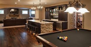 Poker and Pool Table in Man Cave
